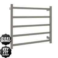 EZY FIT Heated Towel Rail - Flat Tube - Dual Wired - (W750mm x H700mm) - Polished SS