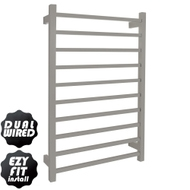EZY FIT Heated Towel Rail - Square Tube - Dual Wired - (W600mm x H920mm) - Polished SS