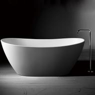 Pisa Artstone Matte White Freestanding Bath - Oval - 1638mm