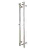 polished chrome double bar vertical heated towel rail ezy fit