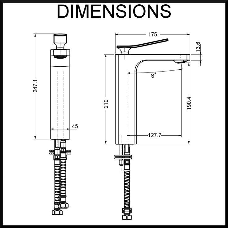 cortina-tall-dimensions-bathroom-mixer